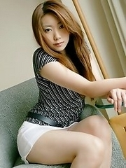 Slutty and horny Japanese av idol Yu Minami shows her sexiness in the hotel room