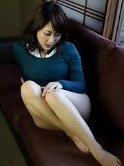 Horny and lovely Japanese av idol Rui Shinohara shows her naked smooth body