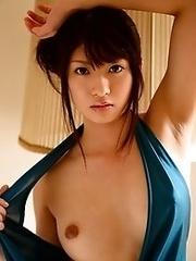 Beautiful and sexy Japanese av idol Rio Ogawa shows her amazing body to show