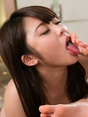 Link Tera gets her feet worshipped by Kawagoe Yui before they share a cock