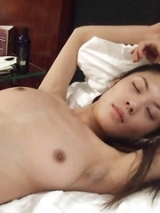 Thai lesbians enjoying a naughty threesome