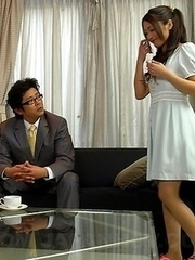 Aoi Miyama shares two fine peckers